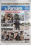 PARISIEN (LE) [No 20398] du 09/04/2010 - LA JUSTICE ENQUETE SUR LES SUICIDES CHEZ FRANCE TELECOM -TEMPETE XYNTHIA / COLERE ET TRISTESSE SUR LE LITTORAL VENDEEN / LA FAUTE-SUR-MER ET L'AIGUILLON-SUR-MER -LA FERME CELEBRITES / MICKAEL VENDETTA A DEJA GAGNE -LES SPORTS - MAKELELE ARRETE -L'AFFAIRE TOSCAN DU PLANTIER RELANCEE -DE NOUVELLES PISTES POUR LA REFORME DES RETRAITES -LES RUMEURS SUR LA VIE PRIVEE N'INFLUENCENT PAS LES FRANCAIS