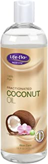 Life-Flo Coconut Oil, Fractionated | Light, Non-Greasy, Fast-Absorbing Face & Body Oil | For Dry Skin & Hair | Paraben-Free | 16 Fl Oz