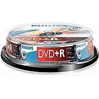 Philips DVD+R DR4S6B10F/00 - DVD+RW vírgenes (4,7 GB, 120 min, DVD+R, 16x, 4.7 GB, 10 Pieza(s))