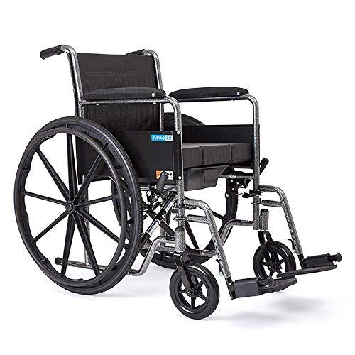 ShiSyan Riabilitazione Sedia, Sedia a rotelle, Sedia a rotelle Medica 20Kg Portatile Pieghevole ergonomico avanzato Backs Comodi Leggero Piedini Regolabili 100Kg Portante 46 * 40cm Seattoilet