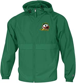 Champion Men's University of Oregon Ducks Jacket Full Zip Windbreaker Jacket
