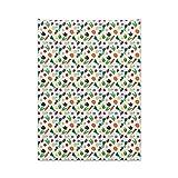 ABAKUHAUS Gemüse Wandteppich & Tagesdecke, Zucchini-Paprikaschoten, aus Weiches Mikrofaser Stoff Moderner Digitaldruck Waschbar, 110 x 150 cm, Mehrfarbig