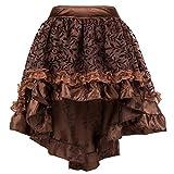 Bslingerie® - Falda corta para mujer, estilo gótico, punk steampunk marrón XXXL