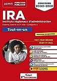 Concours IRA - Catégorie A - Tout-en-un - Fil d'actu offert - Instituts régionaux d'administration - Externe, interne et 3e concours - Concours 2020-2021