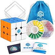 Coogam GAN 356 X Speed Cube 3x3 Stickerless Gans 356X Magnetic Puzzle Cube Gan356 X 3x3x3 M ( IPG V5 Version )