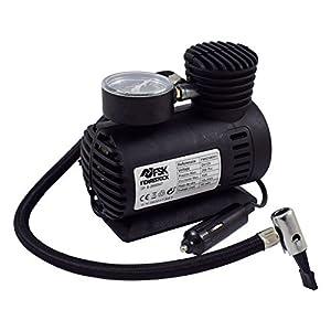 "Suaoki bomba inflador con luz LED 12V, 120 PSI, 3 adaptadores boquilla, 4/"" aire manguera, 3m cable con mechero, para neum/áticos, objetos inflables Mini Compresor de aire port/átil"