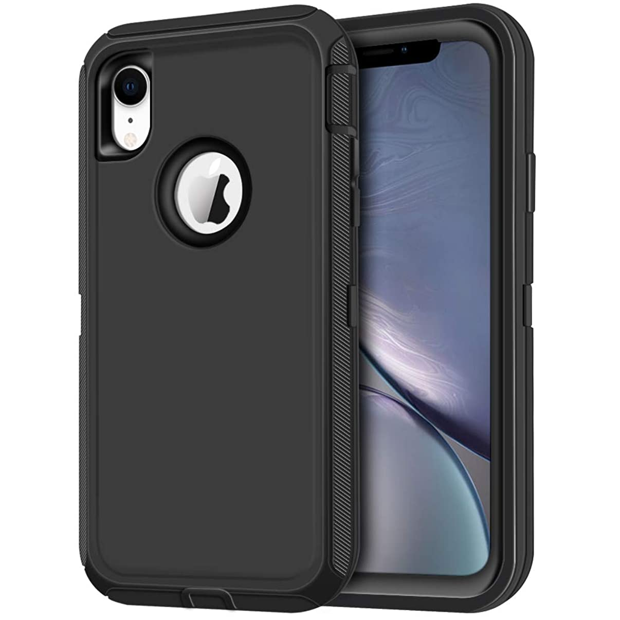iPhone XR Case, LOEV Heavy Duty Shockproof Case Armor Anti-Scratch Full Body 3 Layer Hybrid Protective Back Cover Hard PC Shell Soft TPU Bumper Defender Case for Apple iPhone XR 6.1