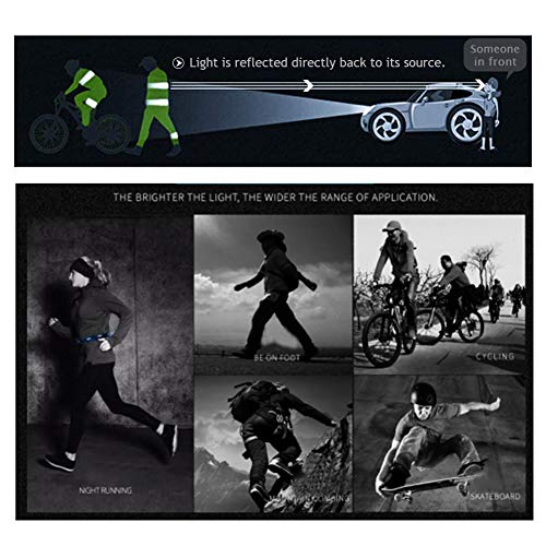 FUNVCE Reflektorband Reflektierendes Armband 6er Set Sicherheit Reflexband Outdoor Joggen Radfahren Fahrrad Laufen Reiten Kinder Klettverschluss Elastisch Leuchtband - Neon-Gelb - 6