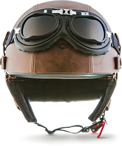 "MOTO Helmets® D22-Set ""Leather Brown"" · Brain-Cap · Casco Mot"