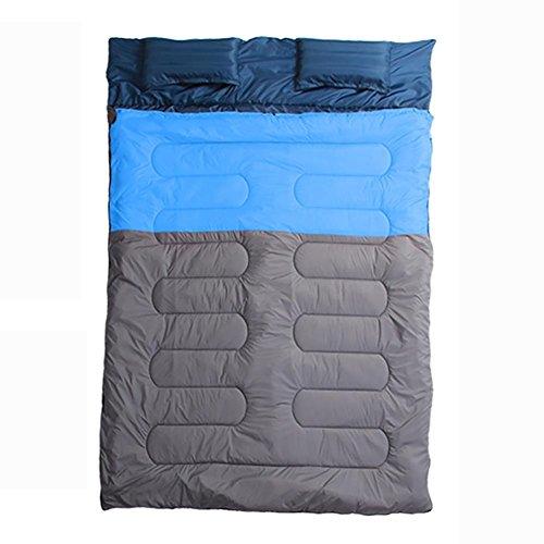 Miao extérieur Camping Voyage Couple Coton double Sac de couchage, bleu