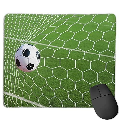 """Benutzerdefinierte Office-Mauspad,Sportdekor Fußball Fußball im Tornetz, Anti-Rutsch-Gummibasis Gaming Mouse Pad Mat Desk Decor 9.5 \""""x 7.9\"""""""