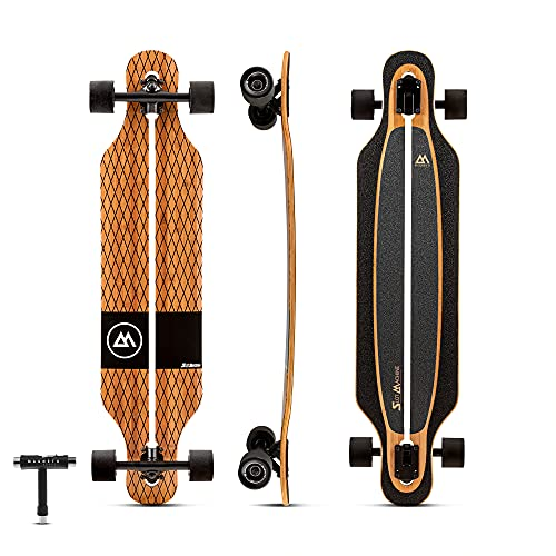 quality longboards Magneto Slot Machine Longboard Skateboard   Bamboo Maple Fiberglass   Cruising Carving Free-Style   Fully Assembled   Made for Teens Adults Men Women   Free Skate Tool