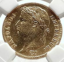 1814 FR 1814 FRANCE Napoleon Bonaparte 20 Francs Antique coin AU DETAILS NGC