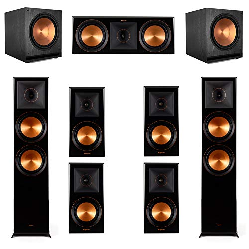 Why Choose Klipsch 7.2.2 Ebony Piano Black System-2 RP-8060FA,1 RP-600C,4 RP-500M,2 SPL-150