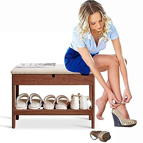 GGFHH Banco Zapatero, Organizadores Estante de Zapatos con estantes y Asiento,Banco Zapatos Gabinete de...