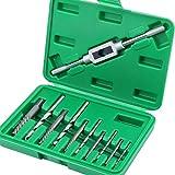 HSEAMALL - Juego de 11 extractores de tornillos dañados, brocas de tornillo roto, tornillos y tornillos quitados herramienta de extracción con llave de sujeción