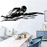 Freestyle Muscle Swimmer Natación Remando Agua GYM Fitness Training Room Baño Vinilo Etiqueta de la pared Calcomanía del coche Dormitorio Club Decoración del hogar Mural
