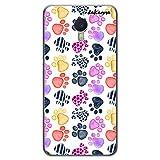 dakanna Funda Compatible con [Meizu M3 Note] de Silicona Flexible, Dibujo Diseño [Huellas Perro], Color [Borde Transparente] Carcasa Case Cover de Gel TPU para Smartphone