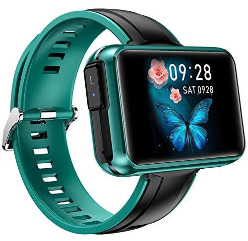 X&Z-XAOY Smart Watch Reloj De Pulsera: Pantalla HD De 1.4 Pulgadas SmartWatch Wireless TWS Bluetooth Pulsera De Auricular Smart Watch Tracker (Color : Green)