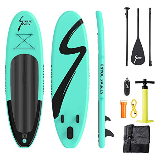 streakboard Inflatable Stand Up Paddle Board Surfing SUP Boards, No Slip Deck 6 Inches Thick ISUP Boards with Free SUP Accessories & Backpack, Leash,...