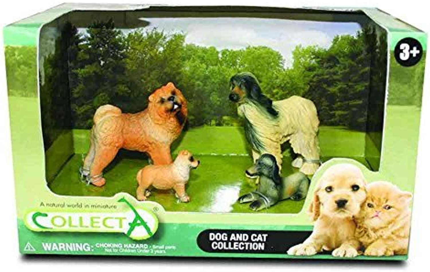 CollectA Cats and Dogs Figure Open Boxed Set (4Piece), Set 2 by Collecta