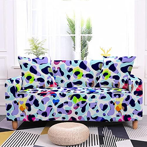 Color Dot Series Funda De Sofá Transpirable Todo Incluido Funda De Sofá Elástica Grande Funda Completa Textiles para El Hogar Toallas De Sofá Individuales Adecuado para Sala De Estar Y Dormitorio