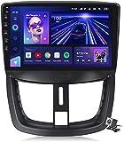 LYHY Navigazione GPS multimediale per autoradio Android 10 Stereo per Peugeot 207 2006-2015, Supporta DSP FM RDS/Carplay Android Auto/Sistema Bluetooth/Collegamento Specchio/Volante, 7862: 6 + 128