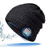 HANPURE Regali Natale Donna Cappello Bluetooth - Bluetooth V5.0 Beanie, Musicale Invernale Running Hat con Altoparlanti Stereo Senza Fili Auricolari, Idee Regalo Natale Uomo/Donna/Genitori/Mamma/papà