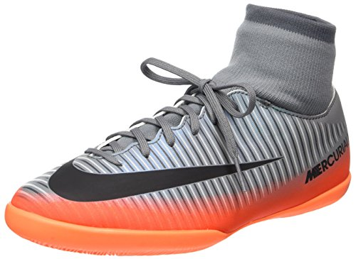 Nike Unisex-Kinder MercurialX Vcty 6 Cr7 DF IC Fußballschuhe, Grau (Cool Grey/MTLC Hematite-Wolf Grey-Total), 33.5 EU