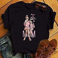 プリントTシャツ女性のファッショングラフィック印刷 韓国半袖婦人服-BT3386-HS_Xl