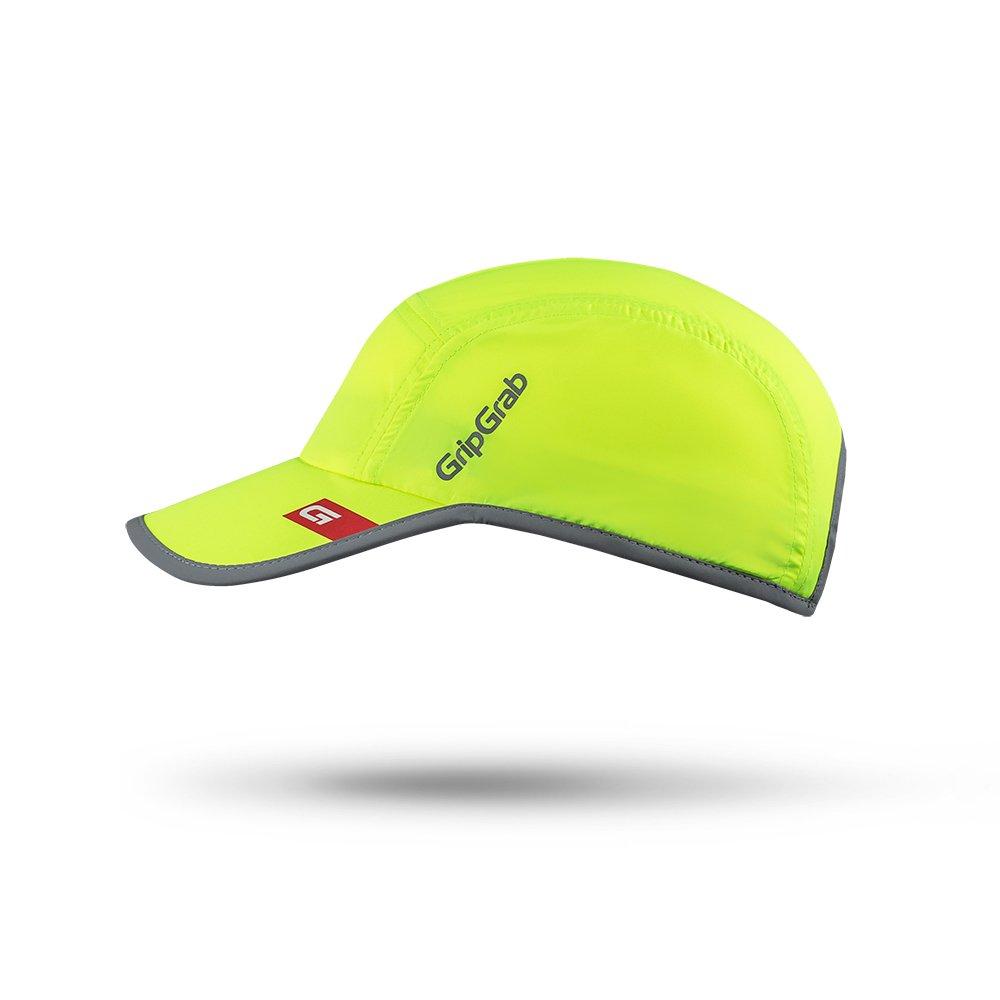 GripGrab Unisex– Erwachsene Lighweight Running Cap Laufmütze, Gelb Hi-Vis,