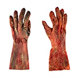 GOODGDN Halloween Terror Props Guantes Zombie Cosplay Accesorios Blood Devil Handwear Hombres Mujeres Skull Ghost Claws Performance