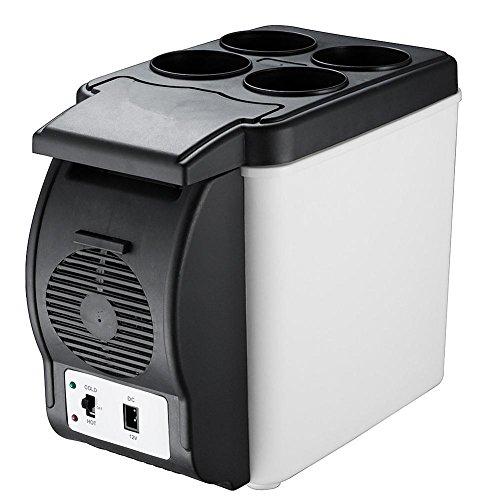 MTTLS Frigorifero portatile6L 12V del dispositivo di raffreddamento da auto a doppio uso dell'automobile calda e fredda Box Camping Mini Frigorifero