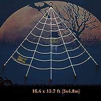 新しいトリッキーなおもちゃのクモの巣の三角形のウェブハロウィーンの屋内と屋外の装飾小道具シミュレーション特大 QC20200831001 (Color : Black, Size : Triangle5*4.8)