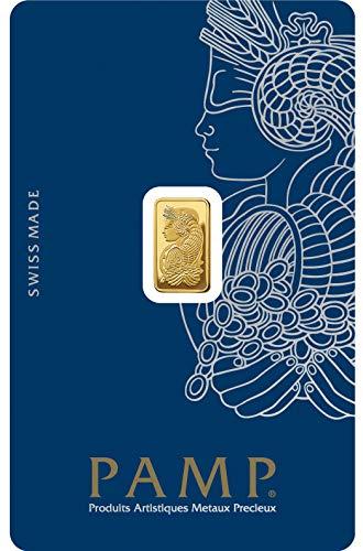 Pamp Suisse 1g Goldbarren Fortuna 999.9 Gold Blister Echtgold