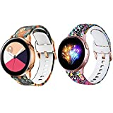 Shangpule Compatible for Samsung Galaxy Watch 3 45mm Bands, Galaxy Watch 46mm, 22mm Soft Sport Replacement Wristband for Galaxy Watch 3 (Jellyfish+Peony)