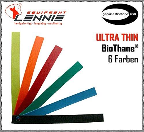 BioThane® Meterware, Granite Ultra Thin, 9mm breit, ca. 0,9mm dick, viele Farben, Schwarz