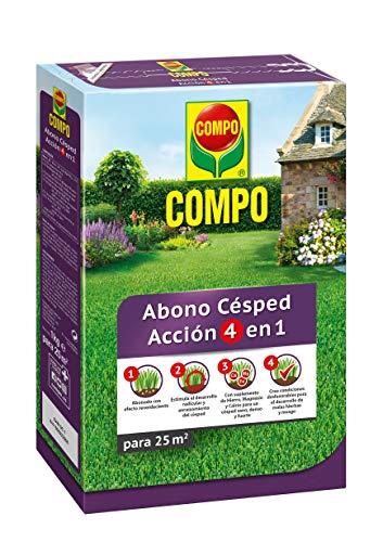 Compo Abono de césped Acción 4 en 1, para 25 m², 1 kg, 2232602011