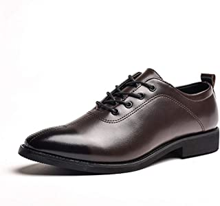 Business Shoes Men's Business Oxford Casual Chic Soft And Comfortable Low-top Breathable Retro Formal Shoes LZHCUICAN (Color : Brown, Size : 42 EU)