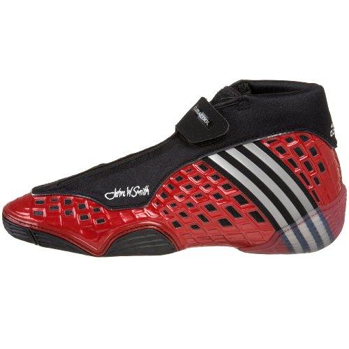 adidas Men's Mat Wizard III Js Wrestling Shoe,Black/Silver/Red,11.5 M US