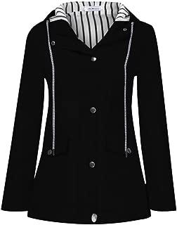 Coat for Women Winter Sale, Women Solid Rain Jacket Outdoor Plus Waterproof Hooded Raincoat Windproof