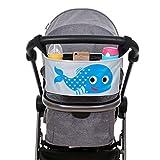 Kinderwagen Organizer - Wasserdichte Aufbewahrungstasche für Kinderwagen und Buggys Zubehör Tasche mit Schnalle Klettverschluss, Delfin