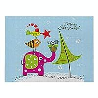 ランチョンマット 北欧 クリスマス 4枚セット おしゃれ 単層幾 綿とリネン プレースマット 小鳥の象とギフト ランチマット 布 華やか卓上飾り 高温耐性滑り止め防しわ 西洋料理マット コーヒーマット家庭 レストラン 用 贈り,21X32cm