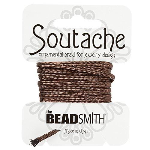 BeadSmith Soutache Band Viskose Kordel–bronze metallic 3Meter