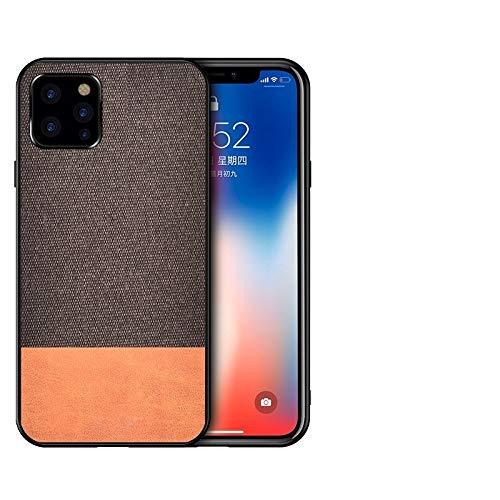 KIOKIOIPO-N Mode Stoß- Splicing PU + Tuch Schutzhülle for das iPhone XI Max 2019 (Color : Kaffee)