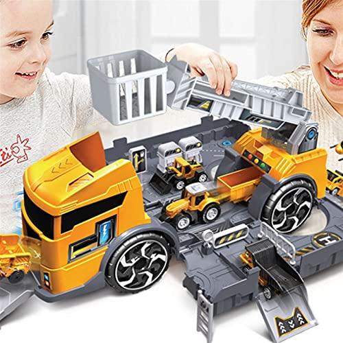 Juguetes de deformación, Vehículo de ingeniería de incendios para niños Estacionamiento de almacenamiento inercial Juguete Puzzle Padre-niño Interacción Modelo de coche Conjunto ( Color : Yellow )