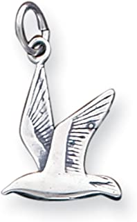 West Coast Jewelry Sterling Silver Antiqued Seagull Charm