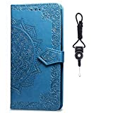 SsHhUu Galaxy A8s Case, Pu leather Wallet Flip Mandala Flip