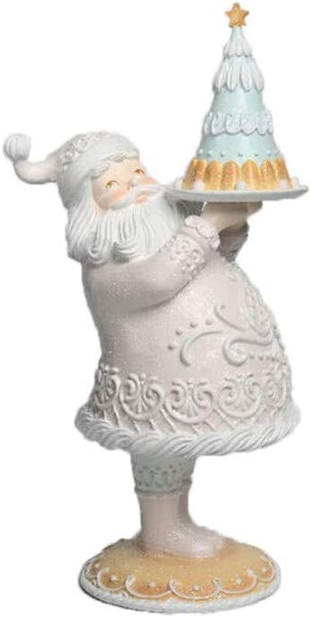December Diamonds Gingerbread 5% OFF Santa with Cake Figurine Finally resale start