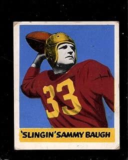 1948 LEAF #34 SAMMY BAUGH VG RC ROOKIE REDSKINS HOF
